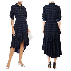 Temperely London / plaid blue stirling dress